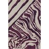 Chandra Rugs Allie Hand Tufted Wool Cream/Purple Area Rug