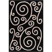 Chandra Rugs Allie Hand Tufted Wool Black/Beige Area Rug