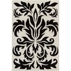 Chandra Rugs Allie Hand Tufted Wool White/Black Area Rug
