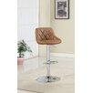 Hokku Designs Bellenia Adjustable Height Swivel Bar Stool with Cushion