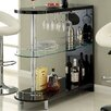 Hokku Designs Holla Lacquer Bar with Wine Storage
