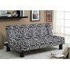 Hokku Designs Jhalko Zebra Print Convertible Sofa