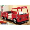 Hokku Designs Twin Fire Engine Bed