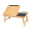 BirdRock Home Multi-Tasking Wood Lap Tray with Phone and Tablet Holder