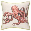 Sarah Watts Octopus Reversible Printed and Embroidered Throw Pillow