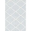 Bunny Williams for Dash and Albert Cleo Blue / White Graphic Indoor / Outdoor Area Rug