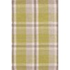 Bunny Williams for Dash and Albert Brewster Green Plaiditude Indoor/Outdoor Area Rug