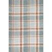 Bunny Williams for Dash and Albert Scooter Blue Plaid Indoor/Outdoor Area Rug