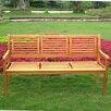 International Caravan Royal Tahiti Wood Park Bench