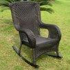 International Caravan San Tropez Wicker Resin Aluminum High Back Patio Rocking Chair