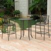 International Caravan Mandalay 3 Piece Bar-Height Dining Set