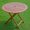 International Caravan Highland Acacia Folding Patio Dining Table