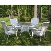 International Caravan San Tropez Set of 5 Wicker ResinAluminum Patio Dining Set