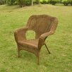 International Caravan Chelsea Wicker Resin Steel Deep Seated Patio Chair