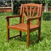 International Caravan Acacia Patio Sapporo Patio Dining Arm Chair (Set of 2)