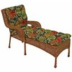 Blazing Needles Tropic Outdoor Chaise Lounge Cushion