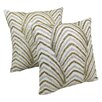 Blazing Needles Arching Fans Cotton Throw Pillow (Set of 2)