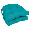 Blazing Needles Outdoor Dining Chair Cushion (Set of 2)