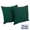 Blazing Needles Solid Throw Pillow (Set of 2)