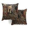 Blazing Needles Tapestry Throw Pillow (Set of 2)