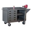 """Durham Manufacturing 39.75"""" H x 65"""" W x 24"""" D Mobile Bench Cabinet"""