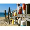 Graffitee Studios Coastal Beach Buoys Wrapped Photographic Print on Canvas