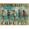 Graffitee Studios Cape Cod Bathing Beauties Wrapped Photographic Print on Canvas