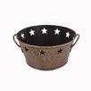 Craft Outlet Vintage Tin Star Bucket