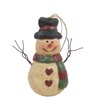 Craft Outlet Chubby Snowman Ornament (Set of 6)