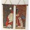 Craft Outlet 2 Piece Hanging Santa and Snowman Set