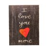 "Swoon Wall Panel ""I Love You More"" Textual Art Plaque"