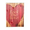 "Swoon Wall Panel ""Feel The Love"" Painting Print Plaque"
