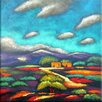 Benjamin Parker Galleries Adobe Horizon Hand Painting on Wrapped Canvas