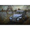 Benjamin Parker Galleries Paris by Car Metal Wall Art