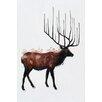 Benjamin Parker Galleries Elk Original Painting on Wrapped Canvas