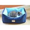 Armarkat Cat Bed in Navy Blue and Sky Blue