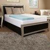 "Luxury Solutions 5.5"" Gel Memory Foam and Fiber Mattress topper"
