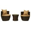 The-Hom Delmonico 3 Piece Deep Seating Group with Cushions