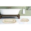 Popular Bath Pearl Memory Foam Rug (Set of 2)