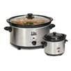 Elite by Maxi-Matic Cuisine 5 Qt. Slow Cooker with Mini Dipper