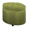 """Tory Furniture Mondo 24"""" Tufted Round Ottoman"""