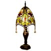 """River of Goods Stained Glass Beaded Brianne's 30.5"""" H Table Lamp with Bowl Shade"""