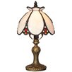 "River of Goods Downton Abbey 12"" H Stained Glass Table Lamp with Bowl Shade"