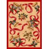 Milliken Winter Seasonal Holiday Bells and Bows Red/Beige Area Rug