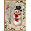 Milliken Winter Seasonl Snowman Beige Area Rug