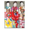 Artist Lane 3 Geisha by Anna Blatman Painting Print on Wrapped Canvas
