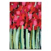 Artist Lane Fire Reds by Anna Blatman Painting Print on Wrapped Canvas