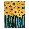 Artist Lane Yellow Blooms by Anna Blatman Painting Print on Wrapped Canvas