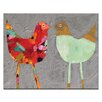 Artist Lane Love Birds by Anna Blatman Painting Print on Wrapped Canvas