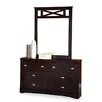 Brady Furniture Industries Melvindale 6 Drawer Dresser with Mirror